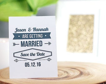 Wedding Save The Date, Printable PDF, Getting Married!