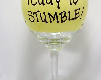 Lets get ready to Stumble Funny Wine Glass Gift Boxed Glasses