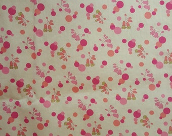 Cotton Mini Print in Pinks and Orange/Coral