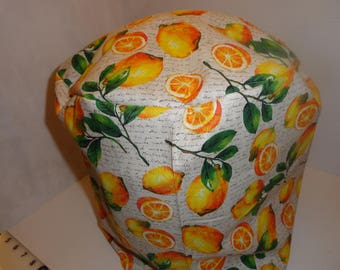 Instant pot cover, 6 qt, bright yellow lemons, green leaves, cotton FREE US SHIPPING