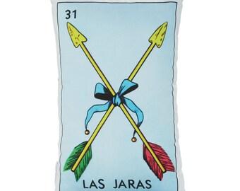 Las Jaras Loteria Printed Pillow