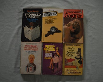 Group of 6 -  Erle Stanley Gardner Books - Perry Mason - Lot 3