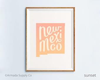 New Mexico print - New Mexico art - New Mexico poster - New Mexico wall art