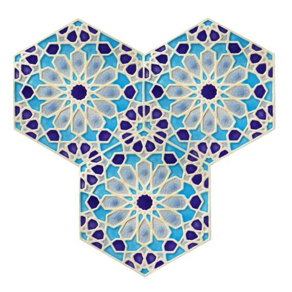 Pintado a mano marroquí azulejos azulejos azulejos de