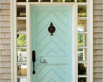 Hello Decal; Front Door Greeting; Wall Decal; Vinyl Lettering; Front Door Monogram; Front Door Hello; Hello Decal