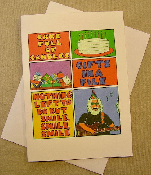 Grateful dead birthday card nothing left to do but smile m4hsunfo Choice Image