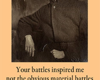 James Joyce Quote Poster - Your battles inspired me