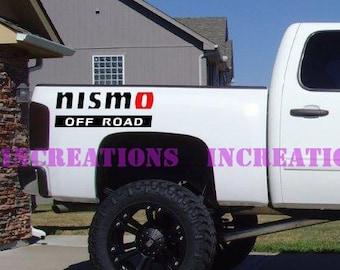 Nissan Nismo Off Road Stripes Truck Decal Sticker Car Truck Racing Sport Car Set