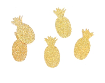 Pineapple confetti - glitter and white decoration