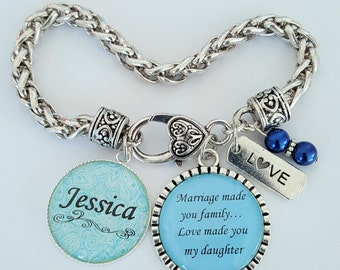 PERSONALIZED Step Daughter Bracelet / Step Daughter Bracelet / Gift for Step Daughter / Step Daughter Wedding Gift