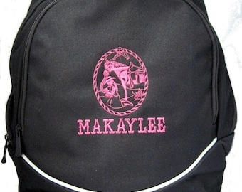 FREE SHIPPING - Praying Cowgirl  Personalized Monogrammed Backpack Book Bag school tote  - NEW