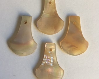 Vintage Mother of Pearl Dangles - 4 pieces