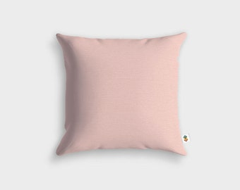 Basic powder pink pillow - Made in France - 45 x 45 cm
