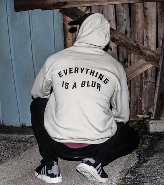 Everything is a Blur sand beige hoodie sweatshirt sweater screenprinted by always again j7Eacy