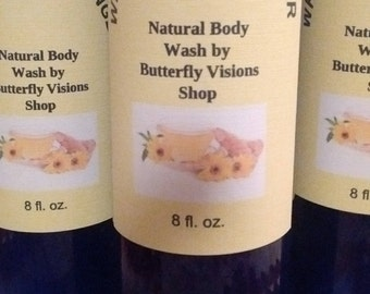 White Tea and Ginger Natural Body Wash- Avocado Oil/Raw Shea Butter