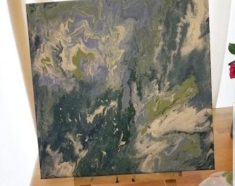 Earth - Original acrylic fluid painting