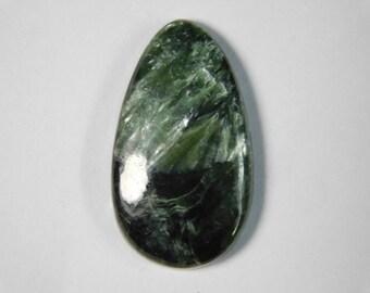 Top- Seraphinite loose gemstone, Natural seraphinite cabochon gemstone, seraphinite loose stone, green seraphinite gemstone 27 Cts. R-212