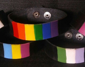 Pride Leather Keychains