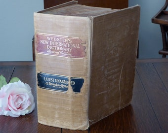 1950 Webster's New International Dictionary Unabridged Second Edition, Webster's Dictionary 1950 Big Heavy Old Dictionary