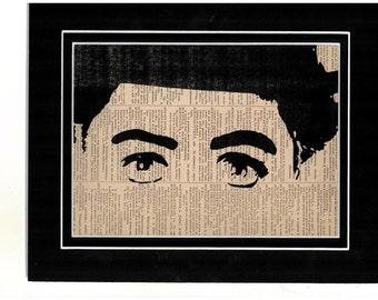 Art print of Charlie Chaplin vintage Dictionary art