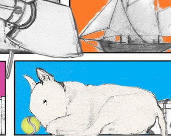 English Bull Terrier Card Storage Solutions