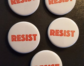 "RESIST 1.25"" buttons - set of 5"