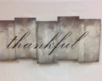 Thankful SignThankful Dining Room SignRepurposedWood SignRustic Decor