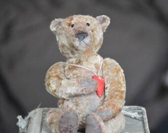 Artist Teddy Bear OOAK antique teddy bear vintage toy Plush Sawdust Soft sculpture Teddy Bear to order Сlassic teddy bear. Old bears