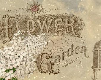Flower Garden Girl Header Banner