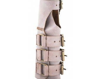 10362: Palm-Elbow Leather Wristlet (Lilac)