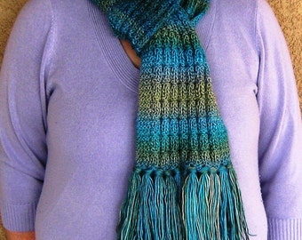 "Colors of the Sea Scarf---""Ariel"""