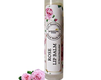 Organic Rose Lip Balm, Gift Idea