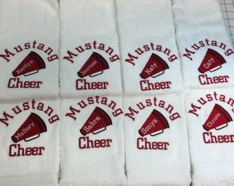 Cheerleading Gift, Cheerleading, cheer gift, Megaphone, personalized towel, Custom Embroidery, Dance Gift