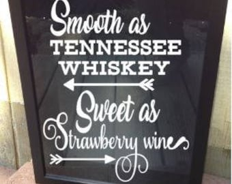 Wine Cork Holder, Wine Cork Shadowbox, Cork Holder, Cork Frame, Tab Holder, Wedding gift 11x14, Tennessee Whiskey