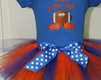 Florida Gators, Florida, Gators, Orange, blue, football, bodysuit, baby tutu, baby girl, personalized, baby shower gift, new baby gift