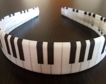 Piano Keys Headband, Music Headband, Piano Headband, Piano Keys