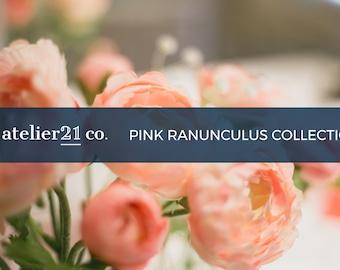 Pink Ranunculus Collection | Stock Photo Bundle | Digital Stock Images for Websites & Blogs