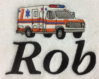 BATH TOWEL Paramedic EMS First Responder Personalized Freei