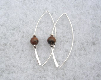 Tiger Iron Earrings
