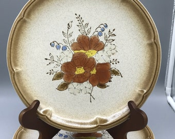 Sunglow Provincial Stoneware Styled By Mikasa/ 1970's Floral Dinnerware