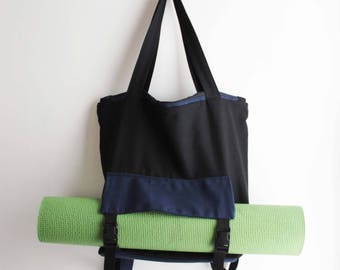 Yoga Mat Backpack Canvas Tote Cycling Bag