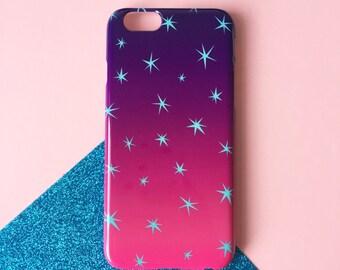 Tropical sky phone case / gradient iPhone X case / night stars iPhone 8 / iPhone 7 / iPhone 7 Plus / iPhone 5/5S, se / Samsung Galaxy case