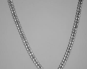 """16"""" Vintage Kramer of N.Y. Blue Rhinestone necklace"""