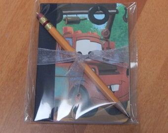 Up cycled MINI Composition Book Disney Cars