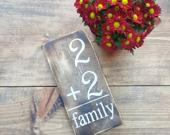 Custom Made Family Number Flash Card Sign, Custom Wood Plaque, Baby Welcoming Sign, Baby Shower Gift, Rustic Wooden Sign, Gifts Under 50