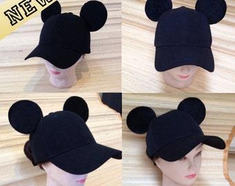 Adult Mickey Mouse Ears Baseball Cap!