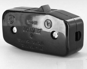 Inline Lamp Switch - Black- Cord Switch - Rocker Switch