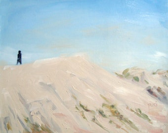 """Woman of the Dunes, original Oil Painting by puci, 8x10"""""""