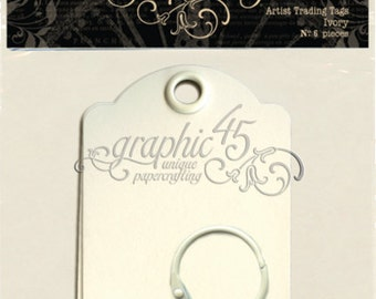 Graphic 45 Artist Trading Tags - Ivory