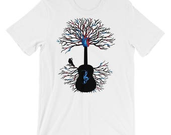 Guitar Tree Shirt, Guitar Shirt, Guitarist Shirt, Music Shirt, Guitar Player Gift, Guitarist Gift, Musician Gift, Rhythms of the Heart